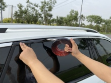 6M Bright Black Chrome Plated Silver Plated Car Window Trim Strips Thick PVC Material Prevent The Body Auto Accessories