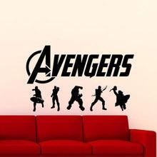 Avengers Sign Wall Sticker Superheroes Iron Man Hulk Thor Marvel Comic Decals Vinyl Home Decor Kids Room Boy Bedroom Murals A334 все цены