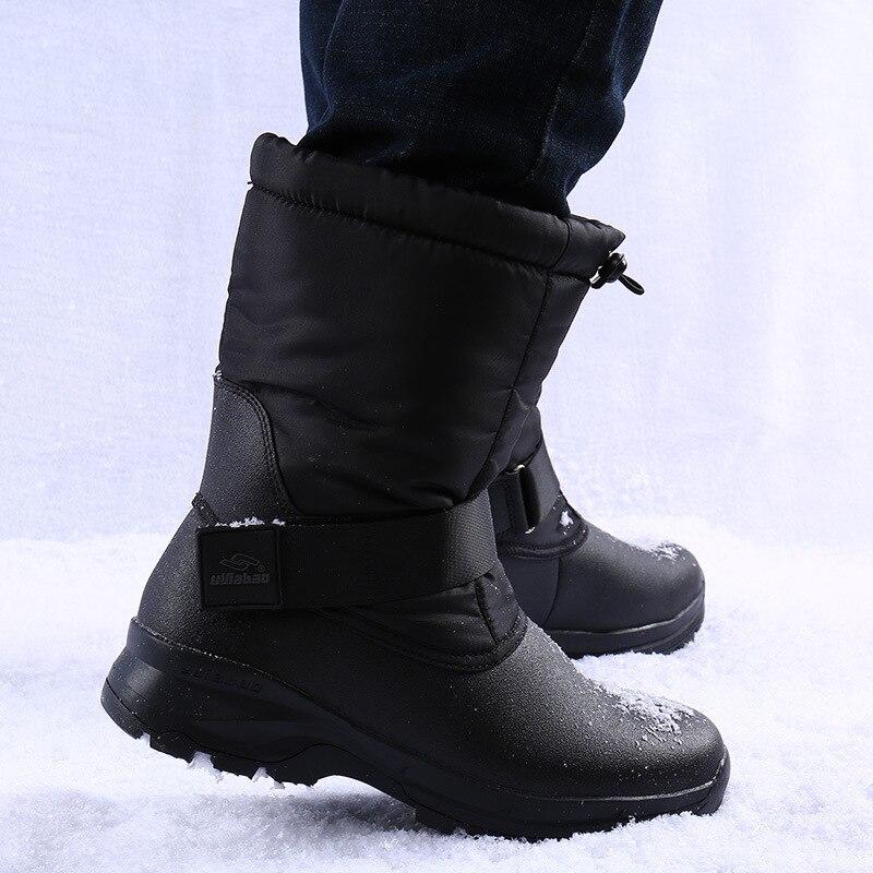 2020 new winter fashion warm men's snow boots plus velvet thick wear-resistant non-slip lightweight cotton boots for men