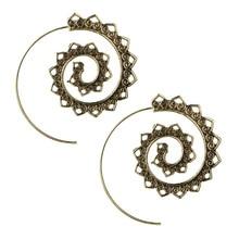 Gold Hoop Earrings Trendy Round Spiral for Women Fashion Jewelry Womens Accessories Oorbellen Alloy Pendientes Earring