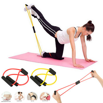 Fitness Rope Resistance Bands Yoga Gym 8 Word Chest Expander Rubber Pull Rope Workout Muscle Elastic Bands for Sports Exercise manila hemp 1pc 5cmx12meter 2 x 40ft battle rope exercise batting ropes gym muscle toning metabolic workout