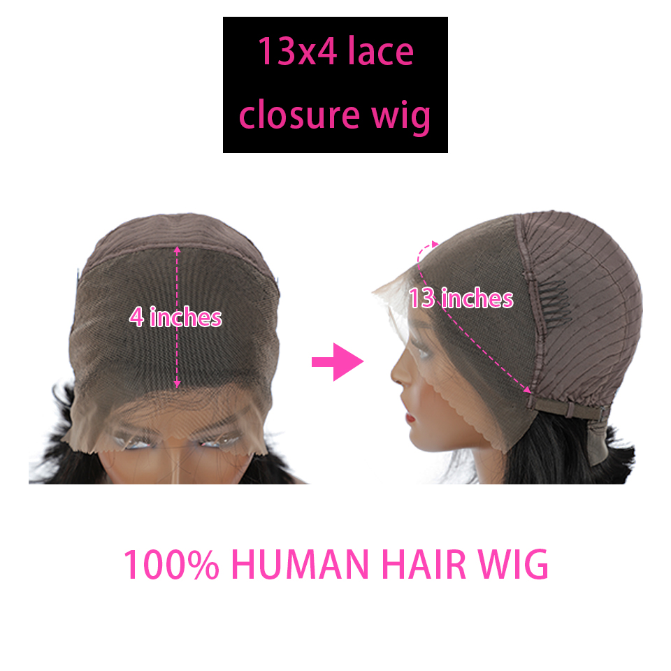 4x4 Bob Wigs Straight Lace Front  Wigs  Pre Pluck With Baby Hair 13x4 Lace Front Wig Glueless Lace Wig  5