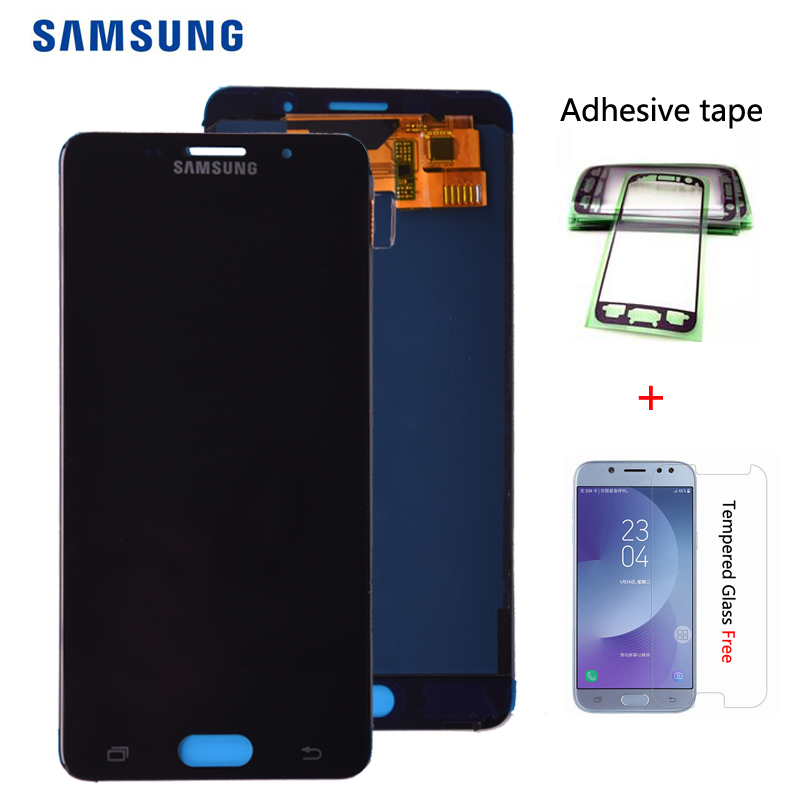 Für SAMSUNG Galaxy A5 2016 <font><b>A510</b></font> A510FD A510F A510M <font><b>LCD</b></font> Display mit Touch Screen Digitizer Montage einstellen helligkeit image