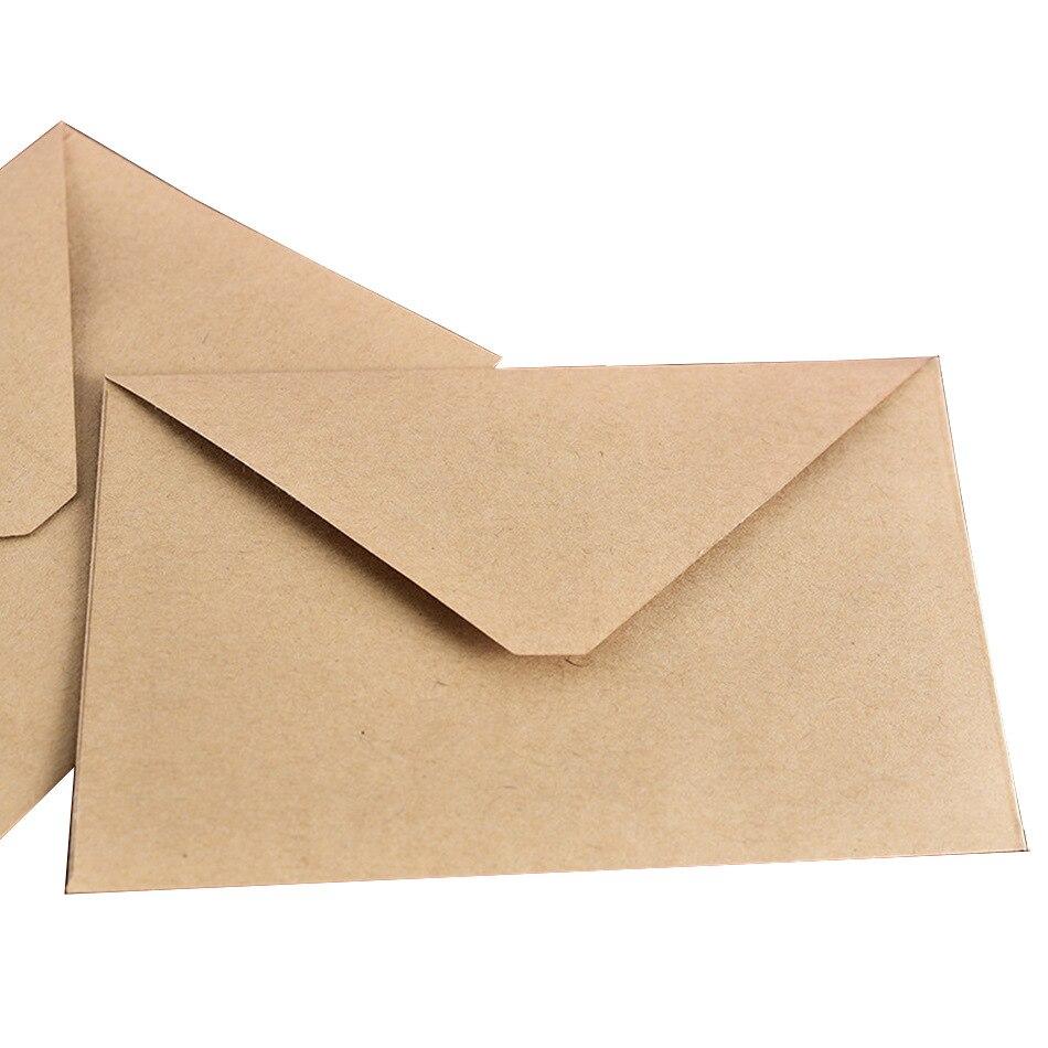 (10 шт./лот) Ретро Стиль однотонные Цвет Античная крафт Бумага конверт для поздравительных открыток Почтовые открытки письмо-приглашение 15*11 ...