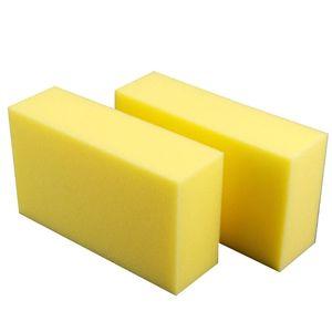 Image 3 - 5 Pcs Gelb Auto Waschen Wachs Quadrat Schwamm Extra Weiche Große Größe Waschen Cellulose Super Saugfähigen Multi verwenden Reinigung werkzeug Teile