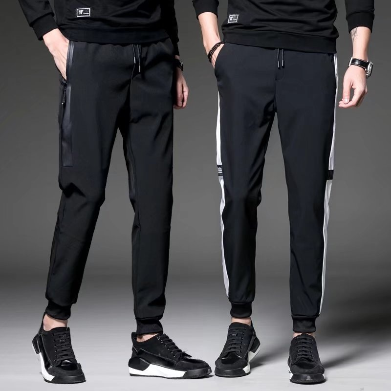 2018 Spring New Style MEN'S Casual Pants Skinny Harem Pants Men's Sports Pants Length Pants Korean-style Knitted Casual Pants