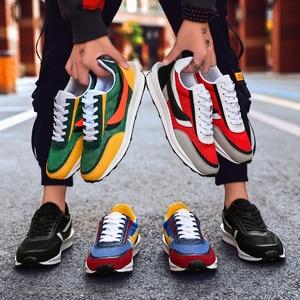 Image 5 - Yeni ayakkabı erkekler Zapatillas Hombre koşu rahat ayakkabı nefes örgü ayakkabı moda rahat erkek ayakkabısı yetişkin Chaussure Homme