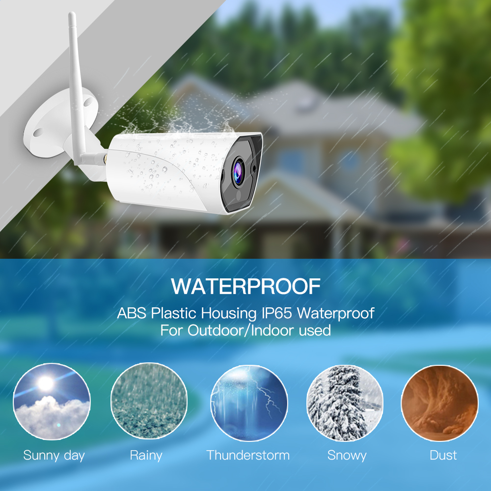 Image 5 - Vstarcam 1080P 2MP Outdoor Bullet IP Camera Wifi Surveillance Security Camera Motion Siren Alarm IP66 Waterproof IR CCTV Camera-in Surveillance Cameras from Security & Protection