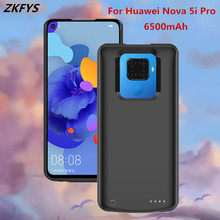 ZKFYS 6500mAh Ultra Thin Portable Power Bank Pack Battery Charger Case For Huawei Nova 5i Pro High Quality External