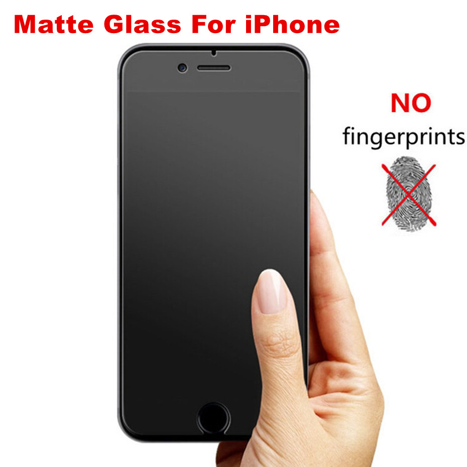 Matte Protective Glass On IPhone 7 8 6 6s Plus Iphone 11Pro XS Max XR No Fingerprint Screen Protector For Iphone7 6s 5 5s 5c SE