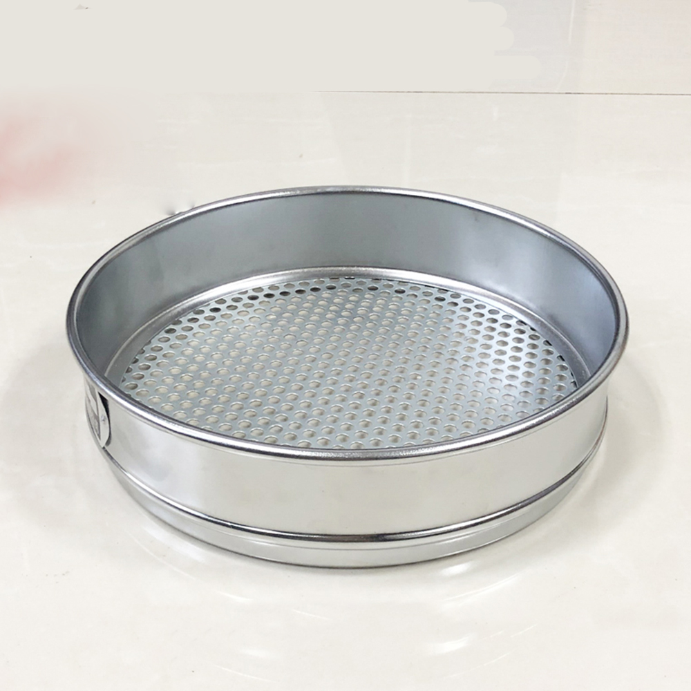 200mm Diam Round Holes 1.5-60mm Aperture Lab Soil Standard Test Sieve Stainless Steel