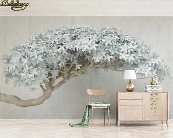 beibehang Custom 3d wallpaper mural 3d stereo flowering tree modern tv background wall papers home decor papel de parede beibehang custom size abstract space corridor white sphere 3d stereo tv background wallpaper papel de parede 3d papier peint