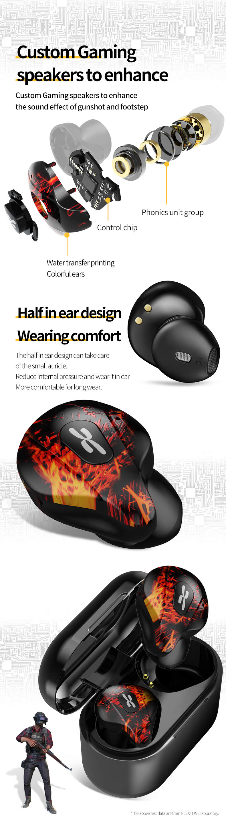 Plextone 4Life True Wireless Gaming Earbuds 7