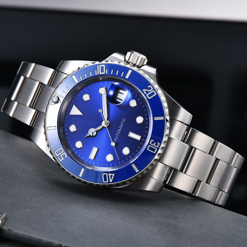 40mm Automatic Watch Men Stainless Steel Sapphire 200m Diver Swimming Mechanical Men Watch RX101