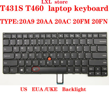 T460 T431S keyboard for Thinkpad laptop US EUA/UKE keyboard With Backlight FRU 04X0101 00HW837 04X0139  01AX310 CS13TBL-USE test