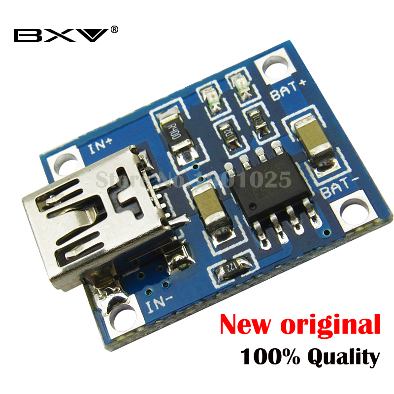 10pcs 5V 1A  USB 18650 Lithium Battery Charging Board Charger Module+Protection Dual Functions TP4056