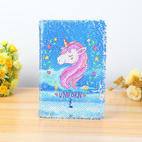 A5 Soft Cover Notebook Color Reversible Sequin Unicorn Diary Notebook Diary Pocket Notepad Promotional Gift Stationery|Notebooks| |  -