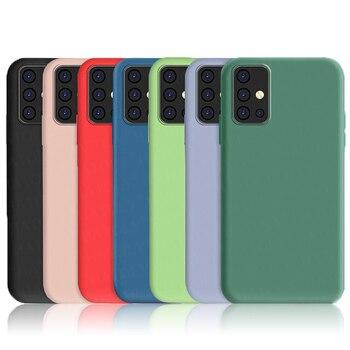 Перейти на Алиэкспресс и купить Для Samsung Galaxy M31 A21 чехол для A51 A71 M30S M21 A30S A50 A41 жидкий силиконовый мягкий ТПУ ударопрочный бампер для телефона