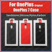 GM1900 Officiële Oneplus 7 Case Karbon Nylon Siliconen Zandsteen Half 1 + 7 Bescherming Cover