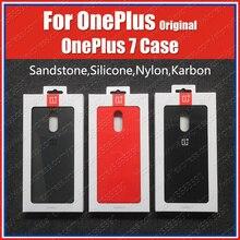 GM1900 الرسمية Oneplus 7 حالة Karbon النايلون سيليكون الحجر الرملي نصف 1 7 غطاء للحماية