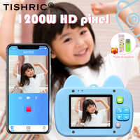 TISHRIC Children's Camera Kids Fash Digital Mini Cartoon Cat with Wifi Function Memory Card Gift 1080p Video Selfie Child Camera