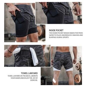 2020 Summer Running Shorts Men 2 in 1 Sports Jogging Fitness Shorts Training Quick Dry Mens Gym Men Shorts Sport gym Short Pants 3