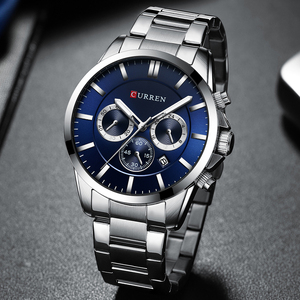 Image 5 - New Watches Men Top Brand CURREN  Luxury Quartz Watch Mens Casual Military Wristwatch Stainless Steel Clock with Chronograph