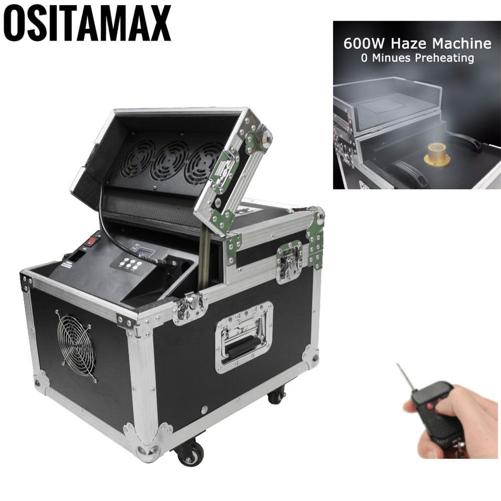 Remote or <font><b>DMX</b></font> Control 600W New <font><b>Hazer</b></font> <font><b>Fog</b></font> Smoke Machine for Stage Concert Professional Haze Smoking Equipment with Flight case image