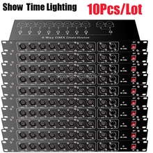 10Pcs/lot Stage Light Controller DMX512 Splitter Light Signal Amplifier Splitter 8 way DMX Distributor for stage Equipment
