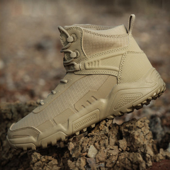 Special Forces Desert Tactical Boots Outdoor Men light weight damping Hiking shoes camping climbing hunting Combat Training shoe