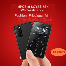 Großhandel 5 teile/los SOYES S10P Mini Karte Telefon 2G GSM 400mAh 1.54 ''MTK6261M Handy Ultra-Dünne kleine Größe Handys Niedrigsten Preis
