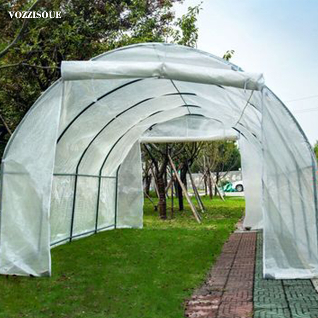 600*300*220cm Large Garden Greenhouse Tall Green House Greenhouse For Plants Shed Storage PE Warm Garden Tier Cover with Stand