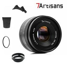 7artisans 50mm F1.8 Manual  Lens for Canon EOS M camera  A7 A7II A7R  Sony E Mount Fuji FX Macro MFT/ M4/3 Mount Free Shipping