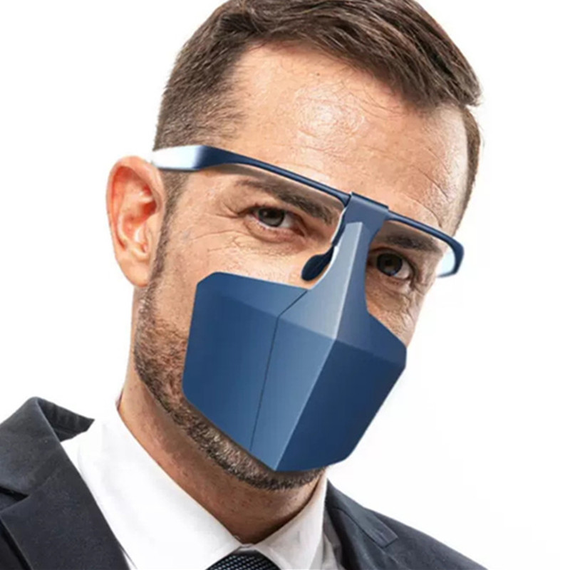 Hot Sale Adult Reusable Protective Mask Anti-Dust Anti-Splash Mouth Mask Wear Glasses Anti-Fog Safety Face Mask Dropshipping
