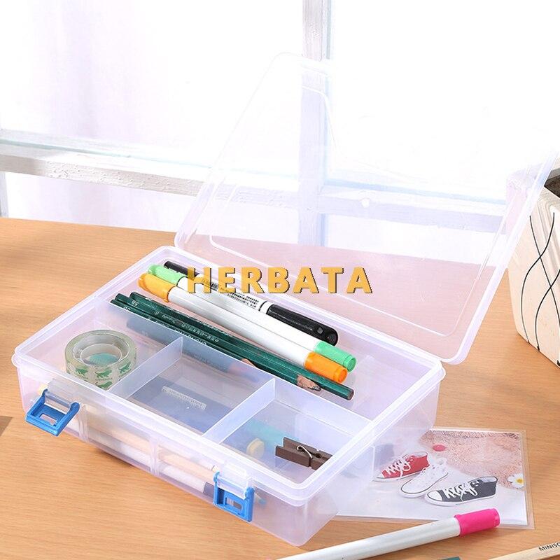 caixa de armazenamento de plástico estudante unisex