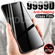 9999D Private Screen Protector For iPhone 12 11 Pro XS Max X XR Anti-Spy Tempered Glass iPhone 8 7 6 6S Plus 5S SE Privacy Glass