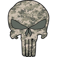 Car Sticker Punisher Skull Camouflage Waterproof Automobile Motorcycles Accessories Reflective Vinyl Decal,12cm*9cm(China)