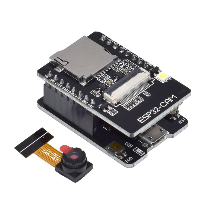 ESP32-CAM-MB WIFI ESP32 CAM Bluetooth Development Board with OV2640 Camera MICRO USB to Serial Port CH340G 4.75V-5.25V Nodemcu