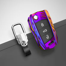 Car Key Case Cover For Volkswagen VW Golf 7 gti mk7 r Touran Skoda Octavia 3 Superb Karoq Kodiaq Seat Leon mk3 Ateca Shell