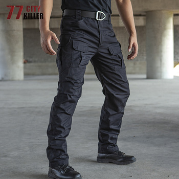 77City Killer Tactical Pants Men Waterproof Combat Joggers Male Multi-pocket SWAT Cargo Stretch Work Trousers Hombre Size S-2XL