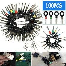 100Pcs Kit di rimozione terminale auto cablaggio connettore a crimpare estrattore Pin estrattore terminale riparazione auto strumenti professionali