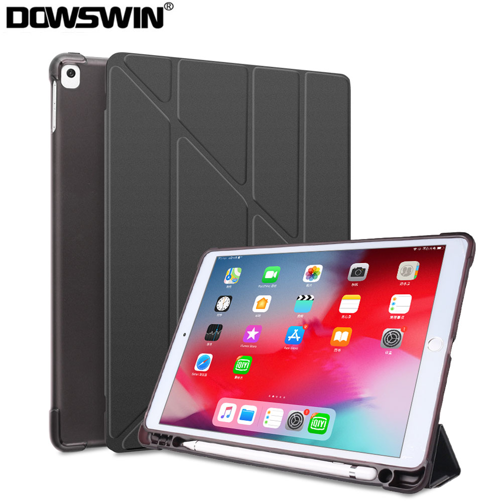 For IPad 7th 10.2 Case With Pencil Holder Silicone Case For IPad Pro 10.5 9.7 Air 1 2 3 2019 Cover For IPad 6th Gen 9.7 2018