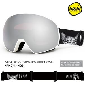 Image 5 - NANDN جديد تزلج نظارات مزدوجة الطبقات UV400 مكافحة الضباب قناع للتزلج الكبير نظارات التزلج الرجال النساء الثلوج على الجليد نظارات