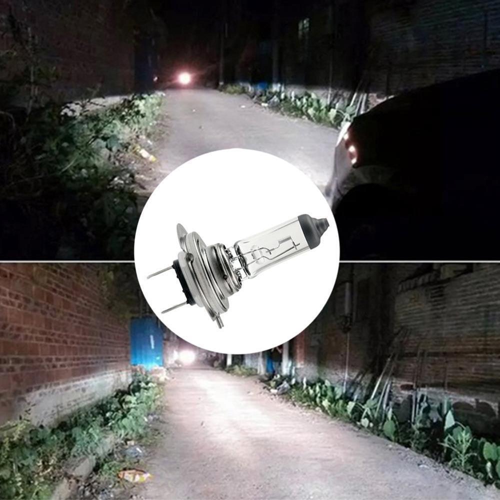 H7 Halogen Bulb Halogen Lamp 12V 55W Clear Blue Light Strong Penetration HeadLight Bulb Glass Car Halogen Light