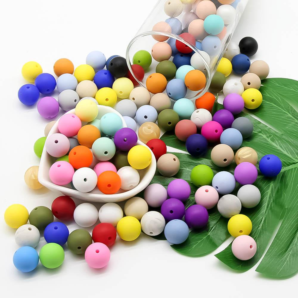 Pacifier-Chain Beads Teething-Toy Cute-Idea Baby Chew Eco-Friendly Sensory Bpa-Free DIY