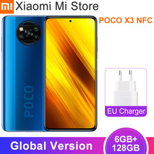 Version mondiale Xiaomi POCO X3 téléphone portable NFC 6 go 128 go Snapdragon 732G Octa Core 64MP 5160mAh batterie 120Hz Smartphone