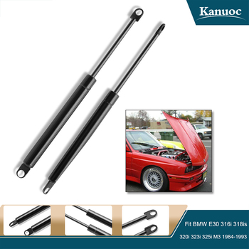 2Pcs Car Styling Car Front Bonnet Hood Shock Strut Gas Lift Support rod For BMW E30 E23 316i 318is 320i 323i 325i M3 735i image
