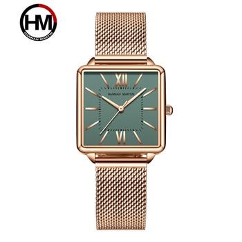 цена Top Luxury Watches Women's Quartz Wristwatches Woman Rose Golden Mesh Band Square Fashion Dial Clock Ladies Bracelet Watch Gift онлайн в 2017 году