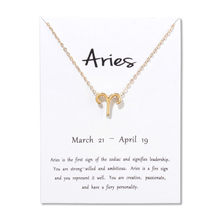 12 Constellations Necklace Pendant Aries Taurus Gemini Cancer Leo Virgo Libra Scorpio Sagittarius Capricorn Aquarius Necklaces