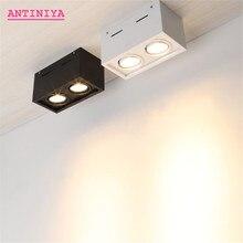 משטח באיכות גבוהה רכוב LED ניתן לעמעום Downlights LED COB זרקורים AC85 265V 10W 20W downlight תקרת מנורה מקורה תאורה